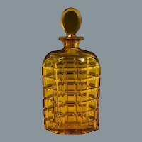 Stevens & Williams Blown & Cut Amber Glass Decanter