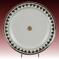 Fine Late Georgian Hand Decorated Creamware Plate