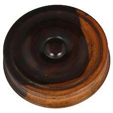 Superb Circa 1820 English Lignum Vitae Snuff Box