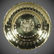 Fine Late18th/Early19th Century Embossed and Punched Brass Dish