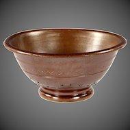 Superb Circa 1840 English Salt Glaze Stoneware Colander