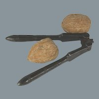 Early 19th Century English Hand-Forged Steel Size-Adjusting Nut Crackers