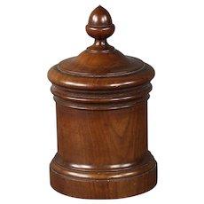 Handsome Circa 1870 English Mahogany Tobacco Jar