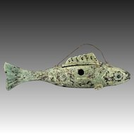 Wonderful Circa 1930 Folk Art Fish Form Birdhouse