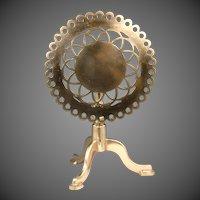 19th Century English Queen Anne Style Brass Pierced Tilt-Top Trivet