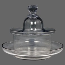Rare and Wonderful Circa 1780 English Colorless Glass Butter Cooler