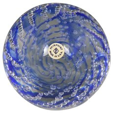 Wonderful Circa 1930 Pairpoint Paperweight with Original Paper Label