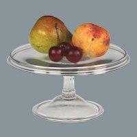 Fine Circa 1750 English Free Blown Colorless Glass Tazza with Gallery Rim