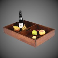 Superb Circa 1830 English Mahogany Double Sectioned Butler's Tray