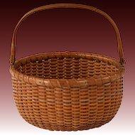 Desirable Circa 1930 Nantucket Lightship Swing Handle Basket by Ferdinand Sylvaro