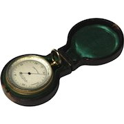 Fine Circa 1870 Cased Pocket Barometer By Thomas L. Ainsley