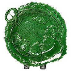 Pleasing Circa 1880 English Majolica Leaf Form Tray