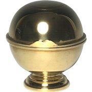 Rare Circa 1820 English Brass Bath Soap or Sponge Holder