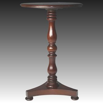 Exceptional Circa 1830 English Turned Mahogany Extendable Candle Stand