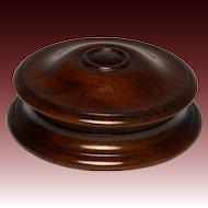 Circa 1830 Finely Turned English Mahogany Snuff Box