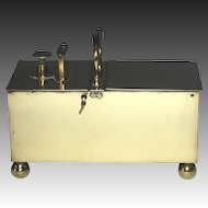 Superb Circa 1820 English Rich's Patent Brass Tobacco Honor Box