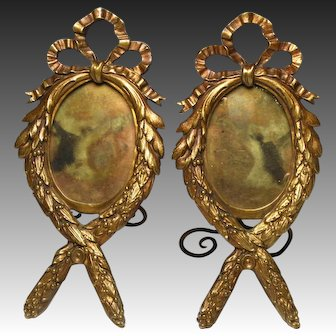 Wonderful Pair of 19th Century French Bronze Ormolu Picture Frames