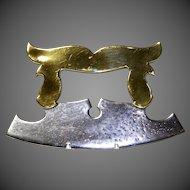 Beautiful Circa 1820 English Brass and Iron Herb Chopper