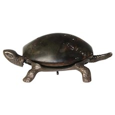 CA 1900 Goldsmiths and Silversmiths Tortoise Form Mechanical Desk/Counter Bell