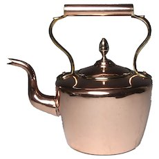 Circa 1850 English Dovetailed Copper Kettle