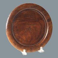 Circa 1830 English Turned Mahogany Bottle Coaster