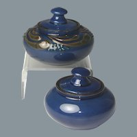 Late 19th Century English Brannam Pottery Inkwells