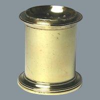 Fine 18th Century English Brass Ink Sander or Pounce Pot