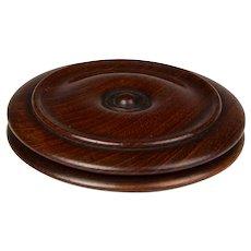 Fine Late Georgian Mahogany Yo-Yo Form Snuff Box