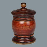 Wonderful Early 19th Century American Turned Spice Jar