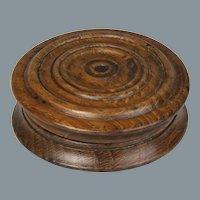 Circa 1820 English Turned Oak Snuff Box