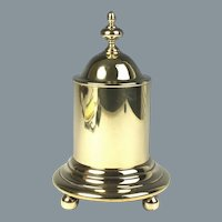 Superb English Early 19th Century Brass Tobacco Jar
