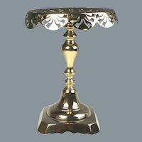 19th Century English Pierced Brass Kettle Stand