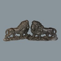 Superb Pair 19th Century Cast Iron Lion Form Door Stops