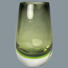 Mid Century Modern Murano Sommerso Glass Vase