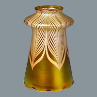 Circa 1910 Quezal Art Glass Shade