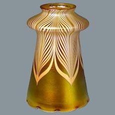 Circa 1910 Quezal Art Glass Shade