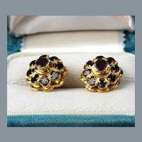 19th Century Garnet and 18K Gold Earrings