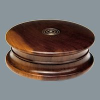 Circa 1810 English Lignum Vitae Small Size Snuff Box