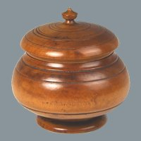 Fine 19th Century Peaseware Maple Covered Jar