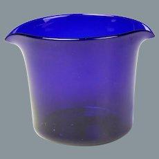 Circa 1800 Free Blown Cobalt Glass Wine Glass Rinser