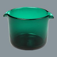 Circa 1800 English Free Blown Green Glass Wine Glass Rinser