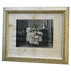 Antique Victorian Picture Frame with Print