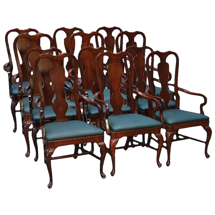 Awe Inspiring Set Of 6 Dining Room Arm Chairs Fit Under Table Top Skirts Interior Design Ideas Gentotryabchikinfo