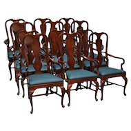 Set of 6 Dining Room Arm Chairs – fit under table top skirts!
