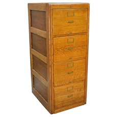 Oak Legal Size File Cabinet by Library Bureau