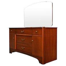 Teak Vanity with Beveled Mirror