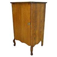 Oak Tiger Sawn Record Cabinet
