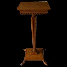 Victorian Oak Pedestal Stand