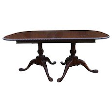 Mahogany Carved Chippendale Custom Dining Table