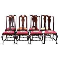 Set of 8 Custom Mahogany Chippendale Dining Chairs